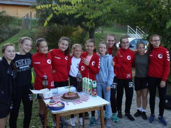U15-ös kézis lányok a bajnokságban